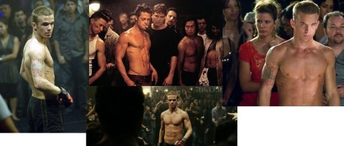 Brad is there in the middle in Fightclub...Cam is all around in movie Never Back Down